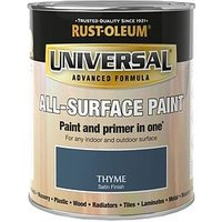 Product photograph showing Rust-oleum Thyme Satin Finish Universal Metal And All Surface Paint - 750ml
