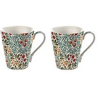 Product photograph showing V A Yew Amp Arbutus Conical Boxed Mugs - Set Of 2