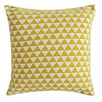Product photograph showing Gallery Jacquard Triangles Cushion