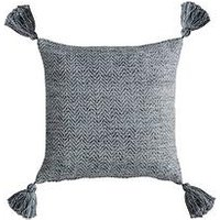 Product photograph showing Gallery Herringbone Pet Tassel Cushion