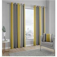 Product photograph showing Fusion Whitworth Lined Eyelet Curtains