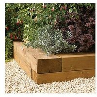 Product photograph showing Rowlinson Timber Blocks 1 8m Pack Of 2