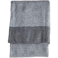 Product photograph showing Gallery Knitted Two-tone Throw