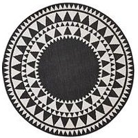 Product photograph showing Indoor Outdoor Circular Rug