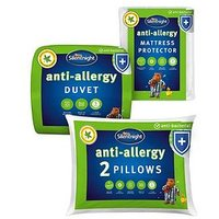 Product photograph showing Silentnight Anti-allergy King Size Bedding Bundle