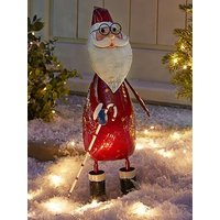 Product photograph showing Three Kings Polka Santa Indoor Outdoor Christmas Decoration