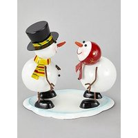 Product photograph showing Three Kings Mr Amp Mrs Frosty Ornament
