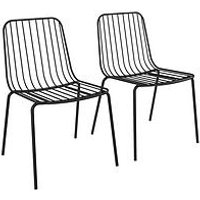 Product photograph showing Pair Of Caden Metal Wire Dining Chairs