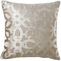 Product photograph showing Catherine Lansfield Lattice Cut Velvet Cushion