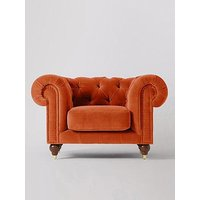 Product photograph showing Swoon Winston Fabric Armchair