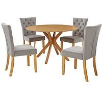 Product photograph showing Starburst Dining Set With 4 Chairs