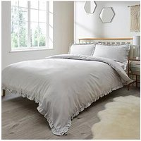Product photograph showing Serene Ruffle Edge Duvet Set Db