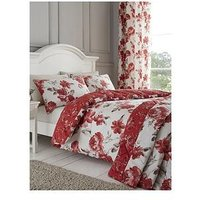 Product photograph showing Catherine Lansfield Catherine Lansfield Painted Floral Bedspread Throw