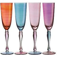 Product photograph showing Premier Housewares Aurora Champagne Glasses Set Of 4