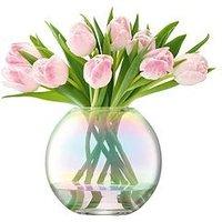Product photograph showing Lsa International Pearl Vase Ndash 16 Cm Tall