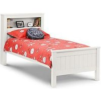 Product photograph showing Julian Bowen Maine Bookcase Bed 90cm - Surf White