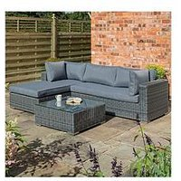 Product photograph showing Rowlinson Vienna Lounger Set Grey Weave