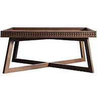 Product photograph showing Hudson Living Boho Retreat Coffee Table - Brown
