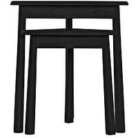 image-Hudson Living Wycombe Nest Of Tables - Black