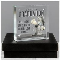 Product photograph showing The Personalised Memento Company Personalised Me To You Graduation Crystal Token