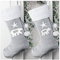 Product photograph showing Personalised Family Polar Bear Stocking