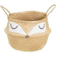 Product photograph showing Sass Belle Woodland Fox Basket