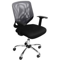 Product photograph showing Alphason Atlanta Mesh Back Office Chair - Black Grey