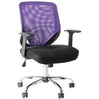 Product photograph showing Alphason Atlanta Mesh Back Office Chair - Black Purple