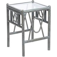 Product photograph showing Desser Grey Bali Conservatory Lamp Table