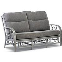 Product photograph showing Desser Grey Bali Conservatory 3-seater Sofa