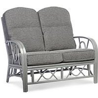 Product photograph showing Desser Grey Bali Conservatory 2-seater Sofa