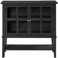 Product photograph showing Franklin 2 Door Storage Cabinet- Black