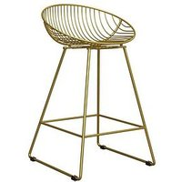 Product photograph showing Cosmoliving By Cosmopolitan Ellis Wire Bar Stool- Gold