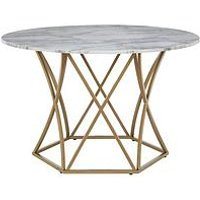Product photograph showing Cosmoliving By Cosmopolitan Elle Round Dining Table