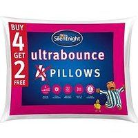 Product photograph showing Silentnight Ultrabounce Pillow Ndash Buy 4 Get 2 Free