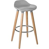 Product photograph showing Premier Housewares Stockholm Bar Stool- Taupe