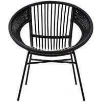 Product photograph showing Premier Housewares Lagom Black Rattan Chair