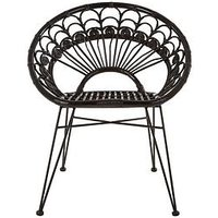 Product photograph showing Premier Housewares Manado Black Rattan Chair