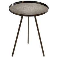 Product photograph showing Premier Housewares Corra Lamp Table- Silver