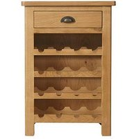 Product photograph showing K-interiors Shelton Ready Assembled Wine Cabinet