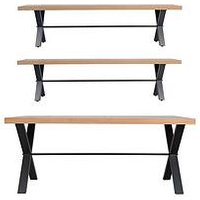 Product photograph showing K-interiors Waverton 180 Cm Dining Table 2 Benches