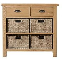Product photograph showing K-interiors Shelton Ready Assembled 1 Drawer 4 Basket Sideboard