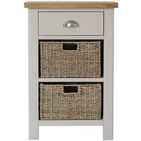 Product photograph showing K-interiors Fontana Ready Assembled 1 Drawer 2 Basket Sideboard