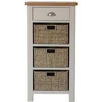 Product photograph showing K-interiors Fontana Ready Assembled 1 Drawer 3 Basket Sideboard
