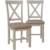Product photograph showing K-interiors Fontana Pair Of Dining Chairs