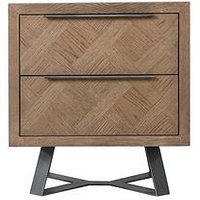 Product photograph showing K-interiors Regis 2 Drawer Bedside Chest