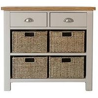 Product photograph showing K-interiors Fontana Ready Assembled 2 Drawer 4 Basket Sideboard