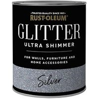 Product photograph showing Rust-oleum Rust-oleum Ultra Shimmer Glitter Silver 750ml