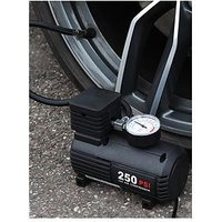 Product photograph showing Streetwize Accessories 12v Compact Air Compressor With Gauge