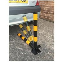 Product photograph showing Streetwize Accessories Folding Parking Post Round